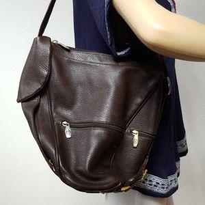 Valentina brown leather shoulder Bag